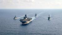 ニュース画像:アメリカとオーストラリア海軍の艦艇、南シナ海で作戦を実施