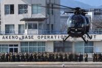 ニュース画像:明野駐屯地、第10飛行隊のOH-6が3月17日にラストフライト