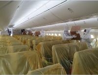 ニュース画像 2枚目:シートにはカバーが掛けられ、緊急の物資を搭載