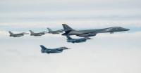 ニュース画像:アメリカ空軍と空自、日本海と沖縄周辺空域で編隊航法訓練 4月22日