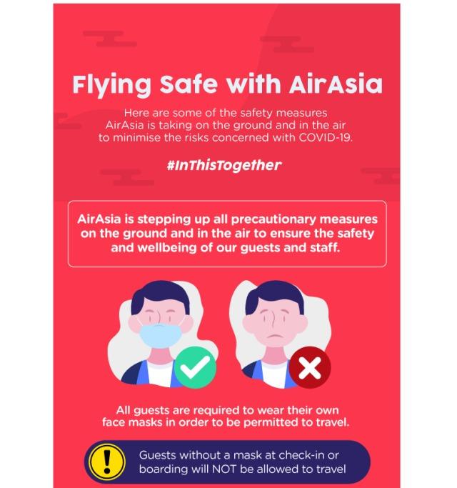 ニュース画像 1枚目:エアアジア、新型コロナウイルス感染拡大防止で様々な対策を実施