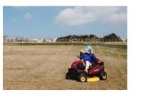 ニュース画像 2枚目:福岡空港で自律走行する「草刈機まさお」