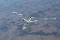 ニュース画像:アメリカ空軍とカナダ軍航空軍が防空演習