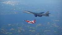 ニュース画像 4枚目:デンマーク空軍のF-16とB-1B