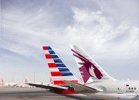 ニュース画像:カタール航空、アメリカン航空の米国内線でコードシェア開始