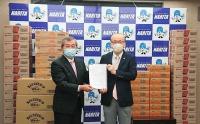 ニュース画像:ピーチ、成田市に機内食カップ麺など寄贈 フードロス削減へ取り組み