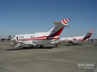 入間の飛行点検隊、6月2日に立川飛行場をU-125で点検の画像