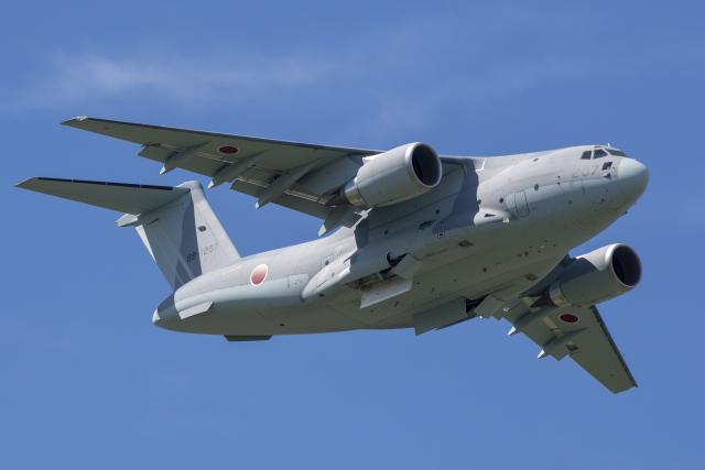 ニュース画像 1枚目:美保基地所属のC-2輸送機