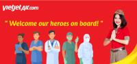 ニュース画像:タイ・ベトジェットエア、コロナと闘った医療従事者に無料航空券を贈呈