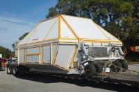 ニュース画像:4時間で地球を2周したオライオン宇宙船、8日間かけてフロリダまで陸送