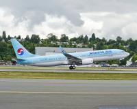 ニュース画像:大韓航空、後部座席の乗客から先に搭乗 社会的距離の確保で