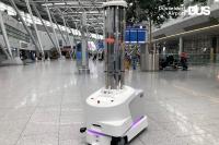 ニュース画像:デュッセルドルフ空港、自律走行できる最新消毒装置を試験導入