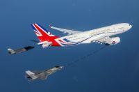 ニュース画像:イギリス空軍VIP用ボイジャー、「ユニオンジャック」纏って登場