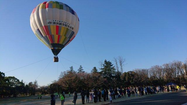 ニュース画像 1枚目:所沢航空記念公園 早起きして「ふわり」熱気球体験