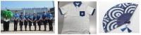 ニュース画像:JAL、阿波藍ブラウスとシャツを再利用したポロシャツを徳島県に寄贈