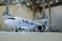 ニュース画像:MS-21-300プロトタイプ、新塗装に