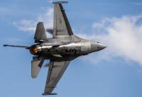 ショー空軍基地でF-16CMファイティングファルコンが墜落の画像