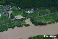 中日本航空、豪雨災害による岐阜県金山地区の斜め写真画像を公開の画像