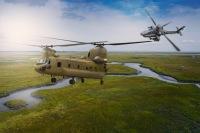ニュース画像:ボーイング、アパッチとチヌークをインド空軍に完納