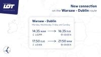ニュース画像:LOTポーランド、ワルシャワ/ダブリン線で定期便 8月から