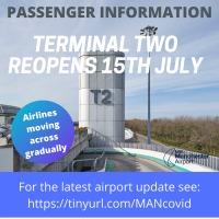 ニュース画像:マンチェスター空港、ターミナル2の利用を再開 旅客数の増加で