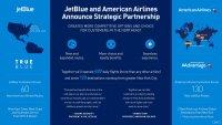 ニュース画像:アメリカン航空とジェットブルー、戦略的パートナーシップを締結