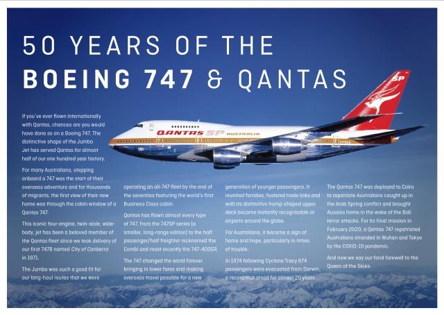 ニュース画像 1枚目:カンタス航空と747の歴史