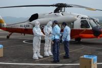 海自UH-60J、新型コロナウイルス患者を奄美から鹿児島市内に空輸の画像