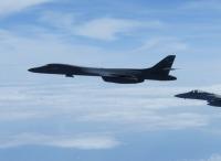 B-1Bランサーと空自F-15・F-2、日米共同訓練の画像