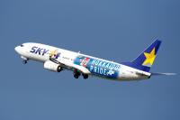 スカイマーク、「ファイターズジェット」運航終了前にありがとうセールの画像