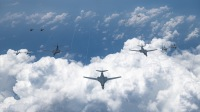 ニュース画像:アメリカ空軍B-1Bランサー、空自・海自・アメリカ海軍と統合演習