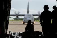 陸自とアメリカ空軍、北海道大演習場で降下訓練 8月31日と9月1日の画像