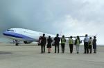 ニュース画像 1枚目:セントレアに到着したチャイナエアライン
