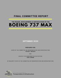 ニュース画像:米議会、737 MAX報告書 ボーイングの隠蔽体質 FAAも問題