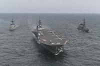 かが・いかづち、スリランカ・インド海軍とインド洋で共同訓練の画像