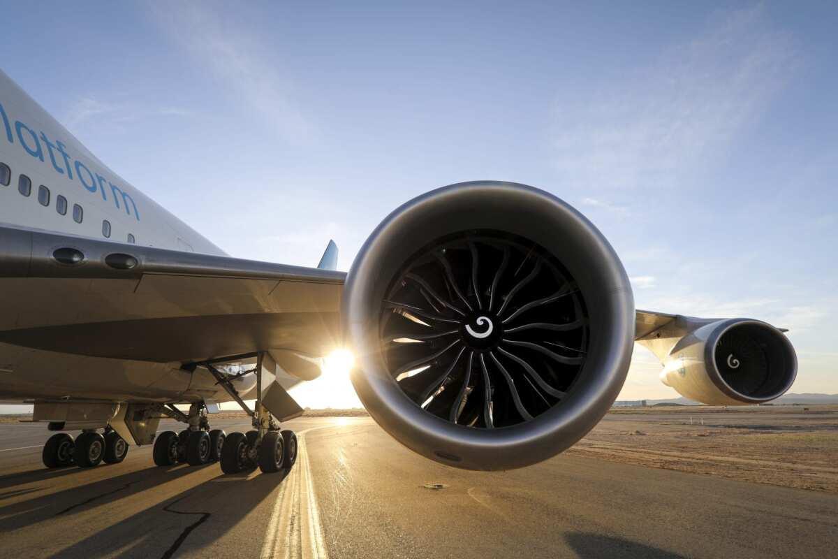 ニュース画像 1枚目:747試験機に搭載したGE9Xエンジン