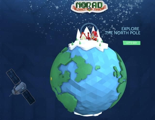 ニュース画像 1枚目:NORAD サンタ追跡サイト