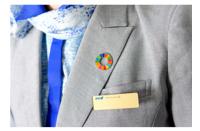 ANA、SDGs取り組み加速 客室乗務員バッジ着用の画像