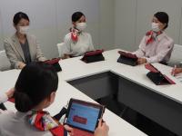 JAL、グランドスタッフの接遇講座 オンラインでマンツーマンの画像