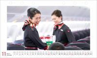 ニュース画像:JALカレンダー発売、新制服着用「CABIN ATTENDANT」も