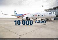 ミドル・イースト航空、製造番号10,000のA320ファミリーを受領の画像