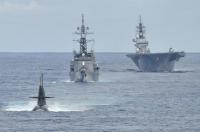 ニュース画像:海自、南シナ海で対潜戦訓練