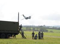 ニュース画像:航空支援集団、八雲分屯基地で飛行場応急復旧隊総合編組訓練