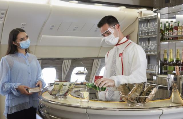 ニュース画像 1枚目:サービスを再開したエミレーツ航空A380機内ラウンジ