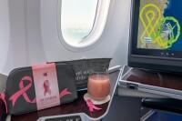 ニュース画像 3枚目:ピンク色の特別機内サービス