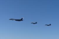 ニュース画像:アメリカ空軍、B-1Bをグアムに前方展開 空自と統合訓練も実施