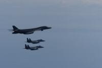 ニュース画像 2枚目:B-1Bランサーと空自F-15