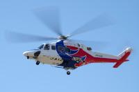 ニュース画像:広島県と愛媛県消防防災ヘリ、応援協定後初の合同訓練