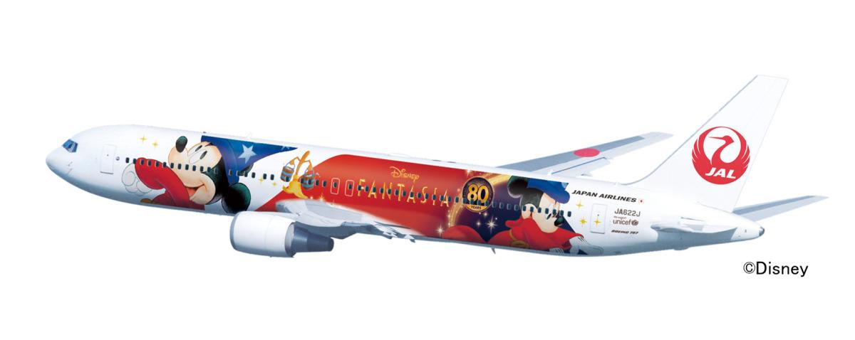 ニュース画像 1枚目:特別塗装機「JAL DREAM EXPRESS FANTASIA 80」デザイン