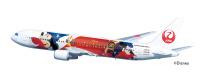 ニュース画像:JALドリームエクスプレス11機目、ファンタジア80周年の特別塗装